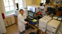 Anthony Tong poses in his analytical laboratory