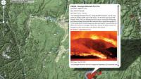 Screen shot of the Okanagan fire-mapping project
