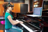 Piano student Lauren McGee performs with an