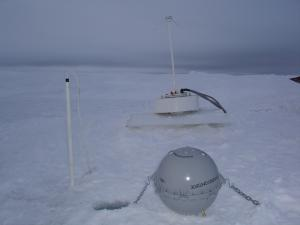Locked in the ice, one of the four monitoring